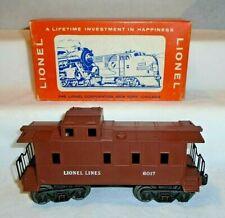 LIONEL No. 6017 CABOOSE IN RARE 1962 PICTURE BOX - EXC