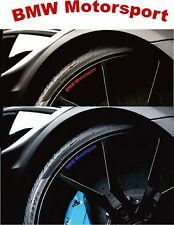 8 no. Car Styling `BMW Motorsport`  Alloy Rims- Decal Sticker for Wheels