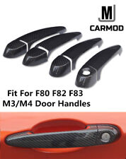 Fit for BMW F80 F82 F83 M3 and M4 Carbon Fiber Door Handle Bar Cover Gloss TRIM