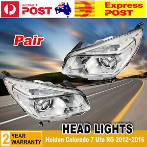 LH+RH Pair of Head Light Lamp Projector LTZ For Holden Colorado 7 Ute RG 12~16
