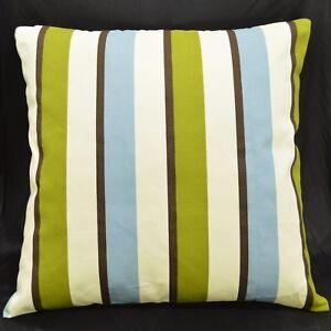 LL311a Beige Brown Aqua Pure Cotton Canvas Fabric Cushion Cover/Pillow Case