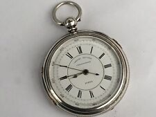 Antique Victorian English Silver Chronograph Pocket Watch, Chester 1882