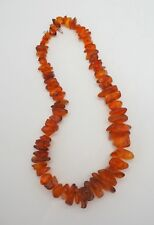 Vintage Natural Baltic Amber nuggets stones heavy chunky graduated necklace 180g