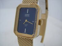 NOS NEW WOMEN'S MECHANICAL SWISS MADE SPECIAL CAMY WATCH 1960'S GOLD COLOR