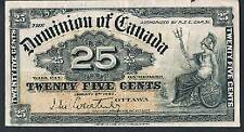 Billete De Canadá 25 P9a 1900 AE (F) limpio y brillante-nick borde superior