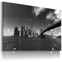 NEW YORK CITY BRIDGE View Canvas Wall Art Picture Large SIZES  L107 MATAGA