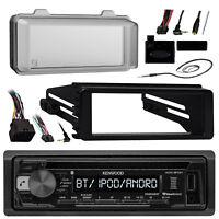 Metra 98-13 Harley FLHX Install Adapter Kit, Antenna, Bluetooth CD Kenwood Radio