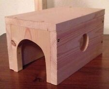 Chinchilla Chinny Home Guinea Pigs Too Wooden House Great for Chinchilla Family