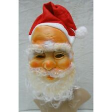 New Santa Claus Father Christmas Face Mask With Hat Beard Fancy Dress Accessory