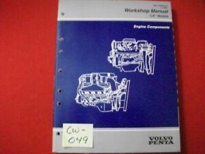 """1997 FACTORY ISSUED GM VOLVO PENTA """"LK"""" MODELS WORKSHOP MANUAL ENGINE COMPONENTS"""