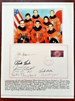 STS-65 SPACE SHUTTLE 'Columbia' FDC SIGNED BY 7 Crew Members - 1994