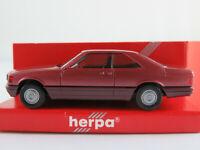 Herpa 3087 Mercedes-Benz 560 SEC (1985) in almandinrotmetallic 1:87/H0 NEU/OVP