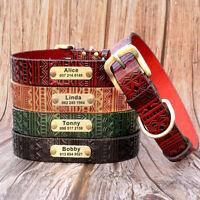 Personalisiertes Hundehalsband Lederhalsband GRAVUR Namen Verstellbar Halsband