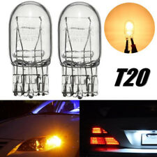 2x T20 7443 W21/5W R580 DRL Turn Signal Stop Brake Tail Light Bulb Clear Glass
