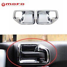 2 Pcs Chrome Interior Door Handle Bowl Cover Trim For Jeep Wrangler 2011-2017 JK