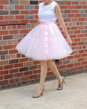 Mocha Very Fluffy Full Layered Petticoat Tulle Skirt Tutu Bridesmaid Wedding