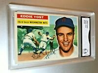 1956 Topps EDDIE YOST #128 GMA Graded 5.5 EX+