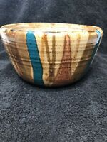 Handmade And Hand Painted Ceramic Bowl Signed And Dated
