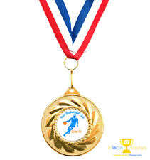 10 x Basketball Medals Personalised With Your Logo/Name + Ribbon FREE P&P