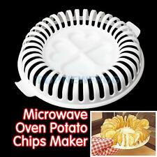 DIY Low Calories Microwave Oven Bakee Potato Chips Maker Tray Home Baking TN2F