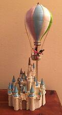 HTF Disney Cinderella's Castle Musical Figurine Mickey -Minnie Rotating Balloon