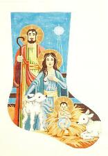 *NEW* HOLY FAMILY  Large Christmas Stocking HP Needlepoint Canvas Labors of Love