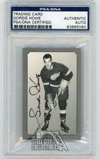 Gordie Howe Pre-Parkie Autograph Auto Card - PSA/DNA