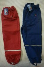 MUDDY PUDDLES PUDDLEFLEX WATERPROOF TROUSERS OVER TROUSERS NAVY OR RED
