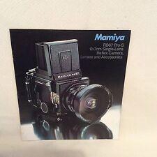 MAMIYA RB67 PRO-S SALES LEAFLET