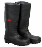 Blackrock Black Safety Wellington Wellies Work Boots Steel Toe Cap Plus Midsole