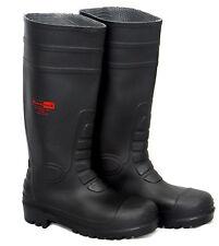 Blackrock Black Safety Wellington Wellies Work Boots Steel Toe Cap Plus Midsole