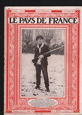 Georges Carpentier boxe anglaise Beckett Fusil de Chasse Sport 1919 ILLUSTRATION