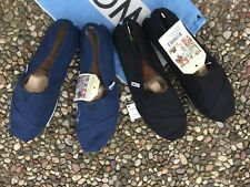 NWT Authentic Tom's Men's Classic Slip-on Flats Canvas Shoes