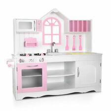 Keezi 108cm Playset Wooden Kitchen - White