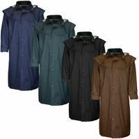 Mens Stockman Long Waterproof Cape Coat Outdoor Riding Trench Raincoat S - 3XL