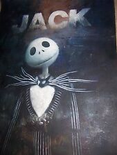 A Nightmare Before Christmas Jack Skellington 28x16 Pulgadas Pintura Tim Burton