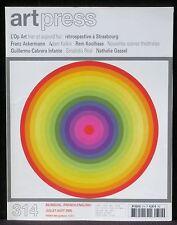 Art press 313 Op Art Ackermann Kalkin Kollhaas Grisélidis Réal Cabrera Infante