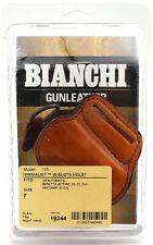 New Bianchi 105 Minimalist W/ Slots Holster Size 7 Plain Tan Right Hand 19244