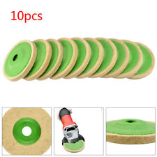 10PCS 100mm 4 Inch Wool Buffing Angle Grinder Wheel Felt Polishing Disc Pad Kit