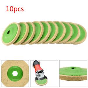 10PCS 100mm 4 Inch Wool Buffing Angle Grinder Wheel Felt Polishing Disc Pad Kit