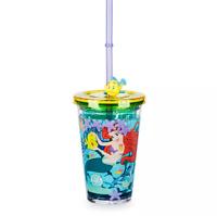 Disney Authentic Princess Ariel & Flounder Tumbler Kids Drink Cup Little Mermaid