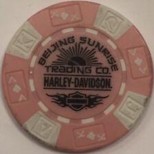 BEIJING, PEOPLE'S REPUBLIC OF CHINA  HARLEY DAVIDSON POKER CHIP (PINK & WHITE)