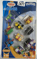 THOMAS & FRIENDS MINIS DC SUPER FRIENDS 9 PK.TOY TRAINS FISHER-PRICE FWR69!!