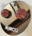 Mimco Crystal Dome Maple Mix Stud $89.95 Earrings Brand New + Dust Bag