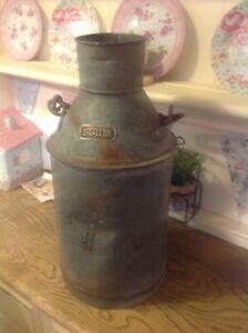 "Vintage  Galvanised Jersey cow Farm Cream Churn 2.5 Gallon 17"" high Planter"