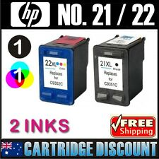 2 Ink Set 1B1C for HP 21XL 22XL F4185 Officejet 4355 PSC1401 PSC1402 PSC1403