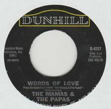 MAMAS AND PAPAS 45 WORDS OF LOVE B/W DANCING IN THE STREET VG+ DUNHILL 4057