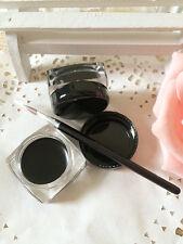 Women Black Long Lasting Eyeliner Gel Waterproof Eye Liner Makeup Brush Supply