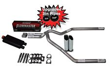 "Ford F150 Truck 98-03 3"" Dual Exhaust Kit Flowmaster 50 Series Slash Cut Tips"