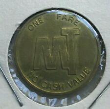 Kalamazoo Michigan MI MT Mass Transit Two Grooves Transportation Token